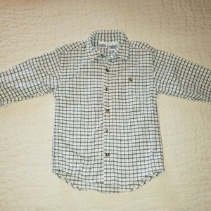 Boys checkered button front shirt